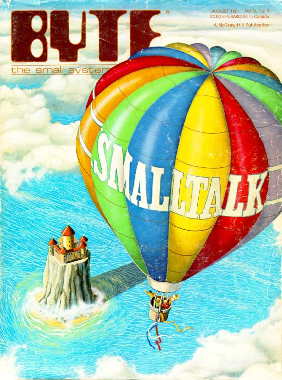 Byte Magazine, August 1981 cover with the actual balloon launch at PARC that celebrated the release of Smalltalk